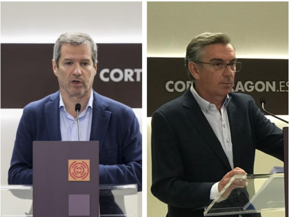 Daniel Pérez Calvo(Cs) y Luis María Beamonte(PP) .