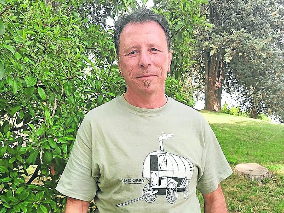 Carlos Tarazona es agente forestal en el Alto Gállego.