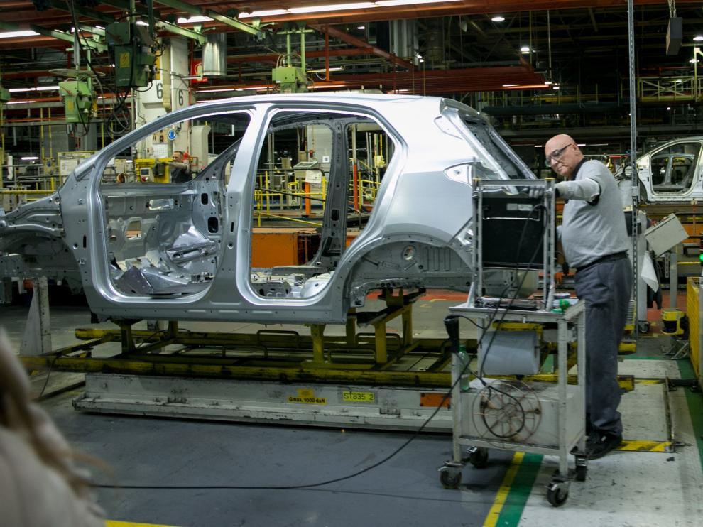 Planta de Opel, ahora integrada en el grupo PSA, en la localidad zaragozana de Figueruelas.