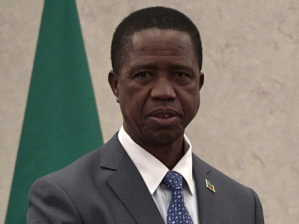 Edgar Lungu, presidente de Zambia.