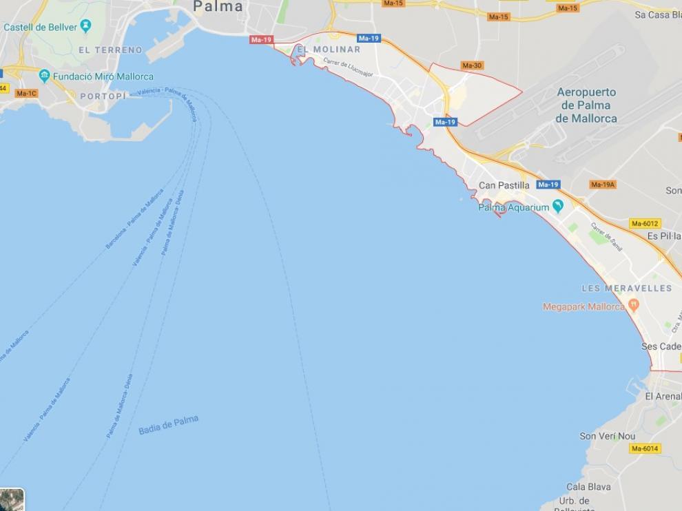 Encuentran los restos de un barco de la época romana a pocos metros de la playa de Palma,