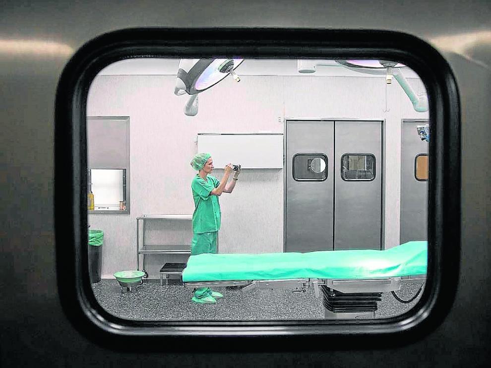 Zona del bloque quirúrgico del Hospital Ernest Lluch, que se va a reformar.