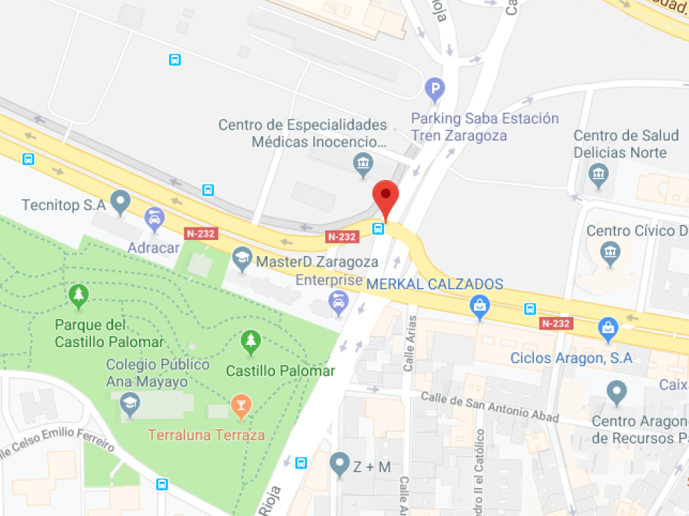El conductor fue parado por la Policía Local cuando conducía por la calle Rioja.