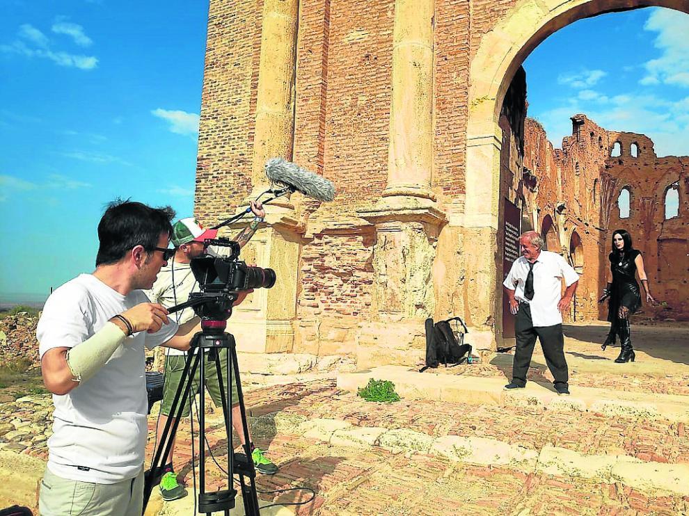 El director de cine Germán Roda, este viernes, rodando para participar en el certamen.