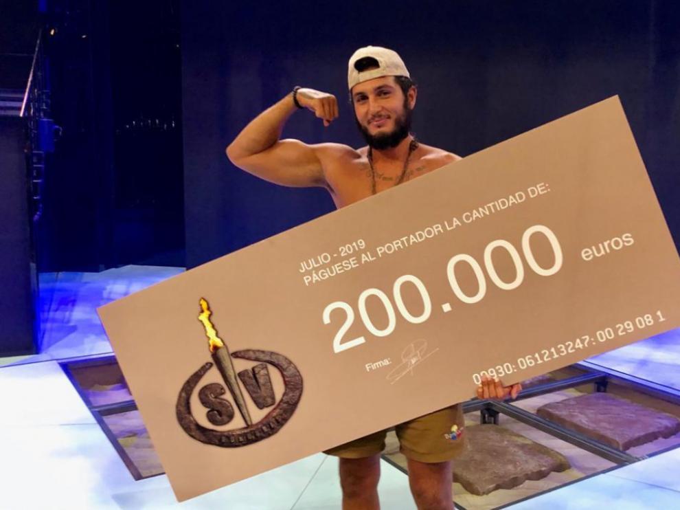 Omar Montes, ganador de 'Supervivientes'.