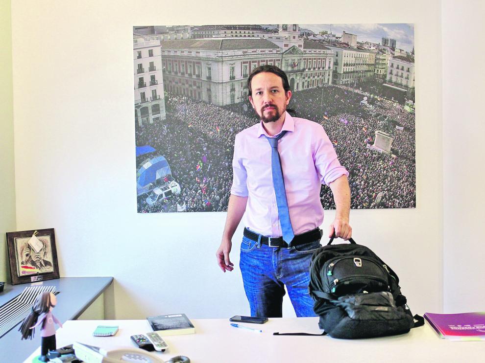 El secretario general de Unidas Podemos, Pablo Iglesias.