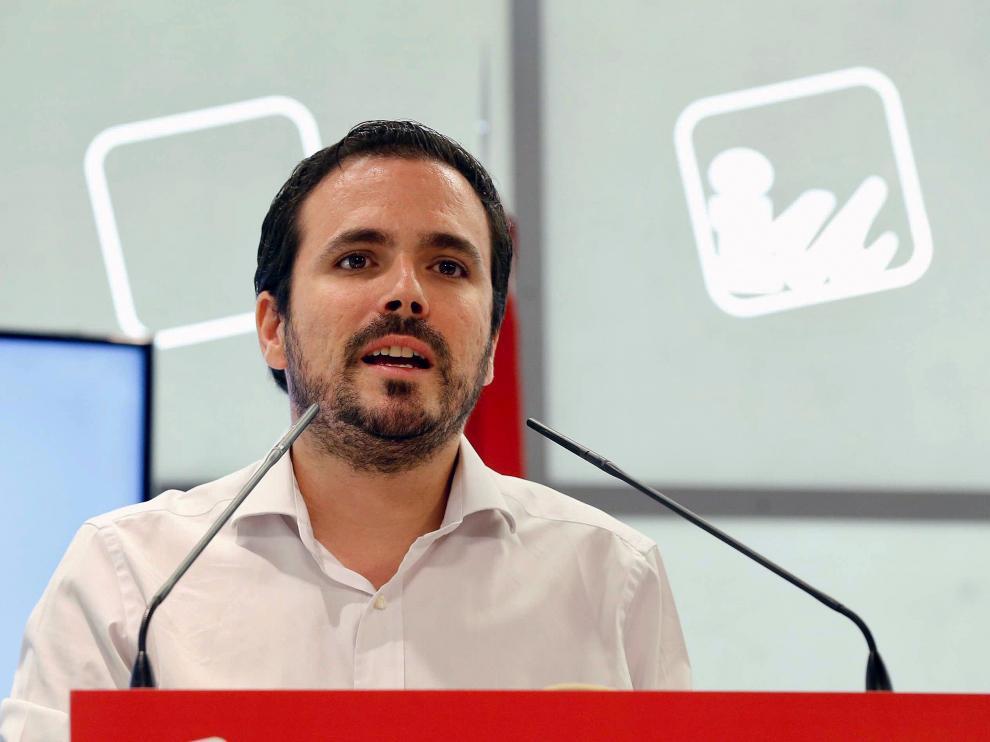 Alberto Garzón, en su intervención ante la Coordinadora Federal de IU.