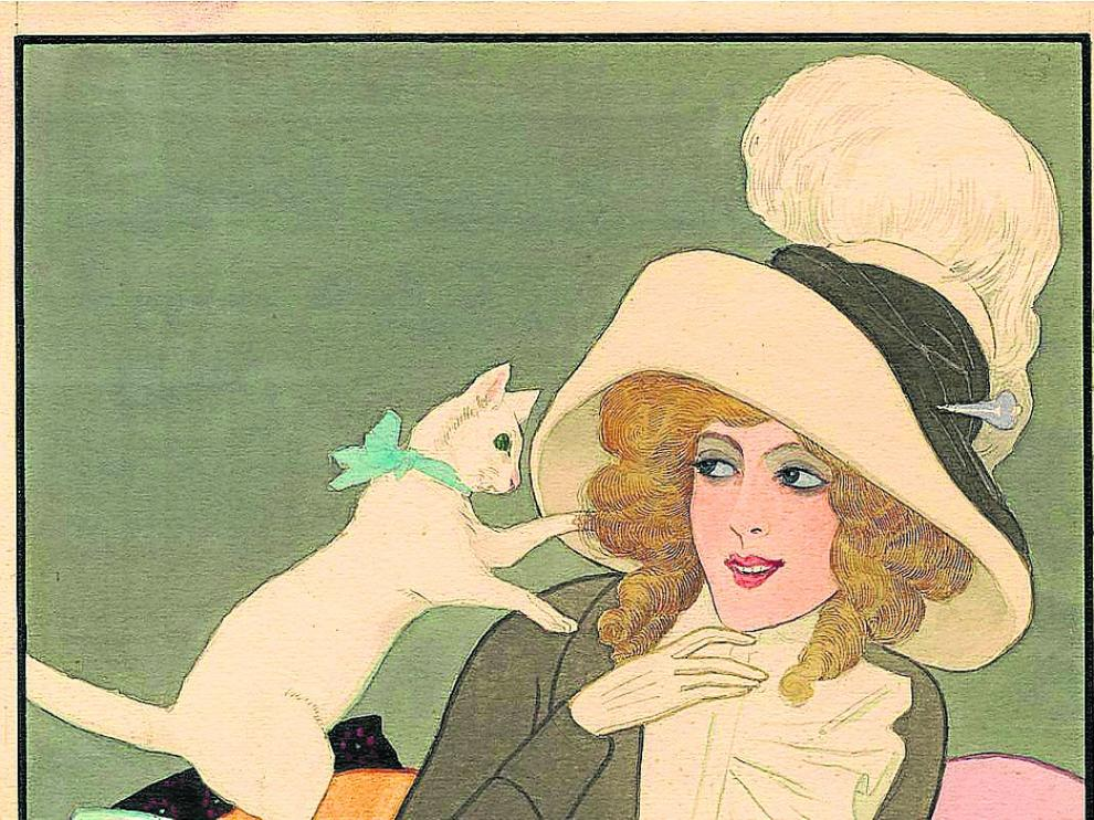 'Quitando moños', una ilustración de Xaudaró de 1912.