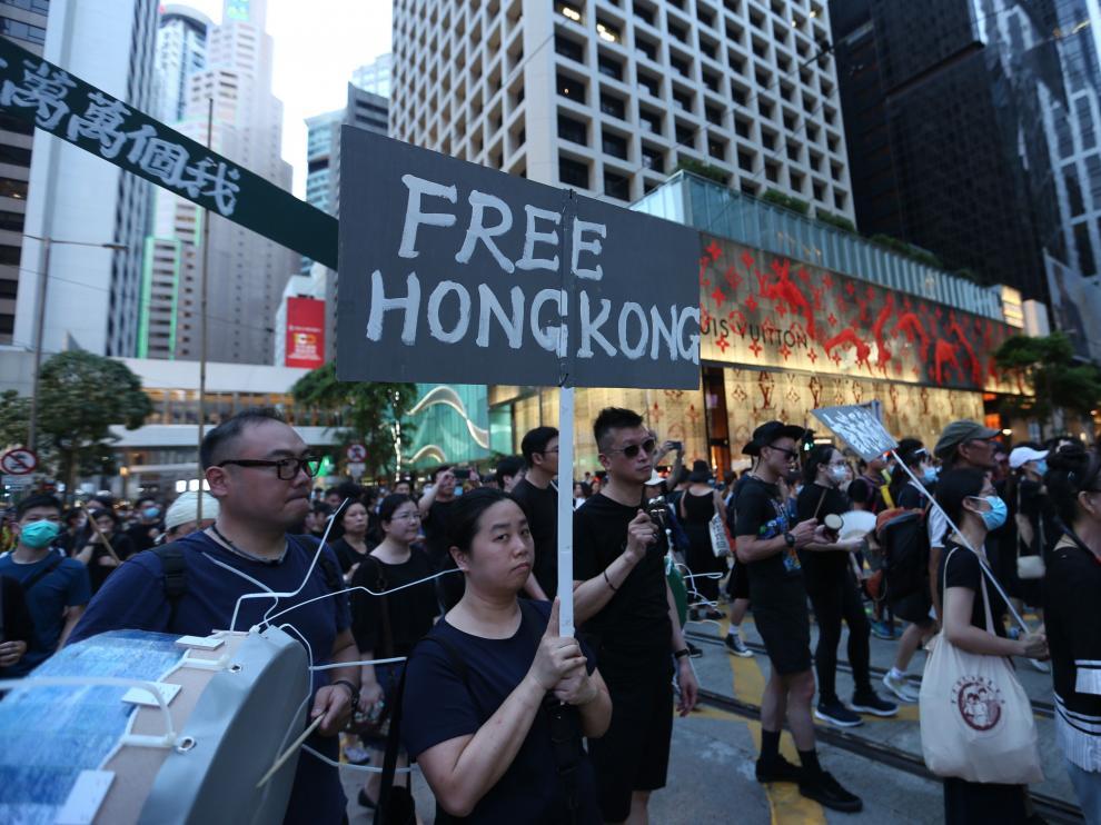 Nueva manifestación en Hong Kong en pos de la democracia.