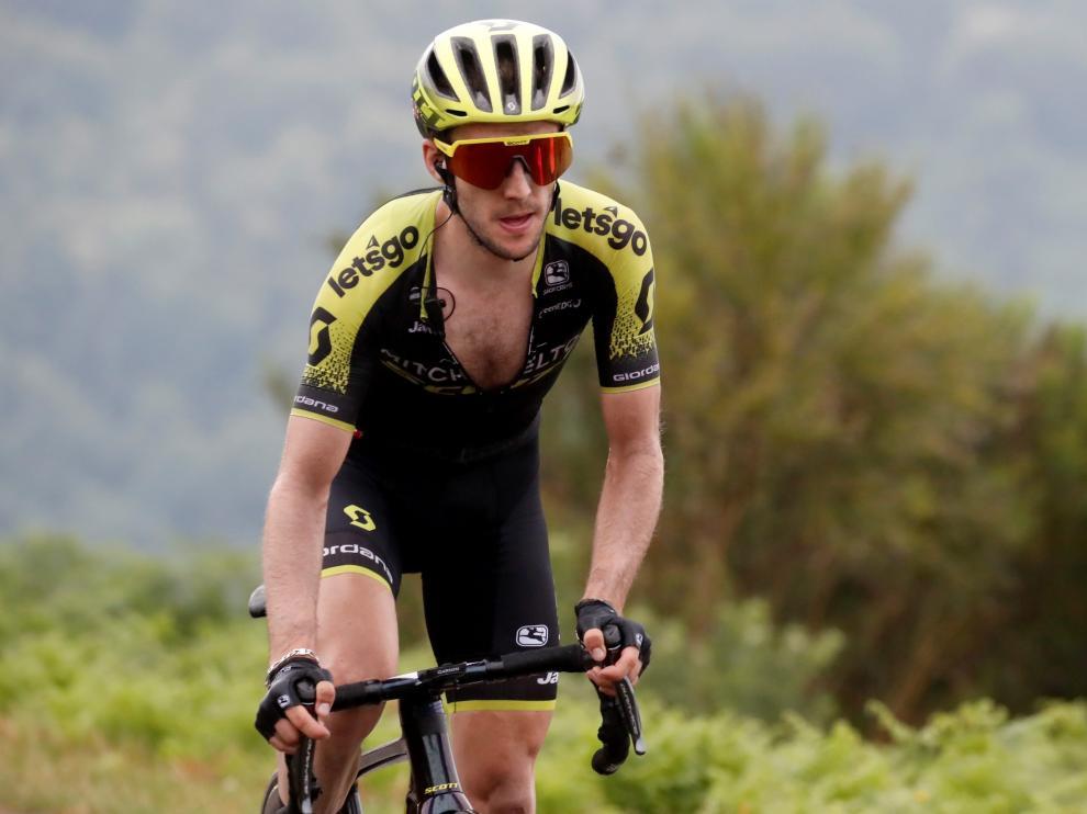 Simon Yates durante la etapa de este domingo.