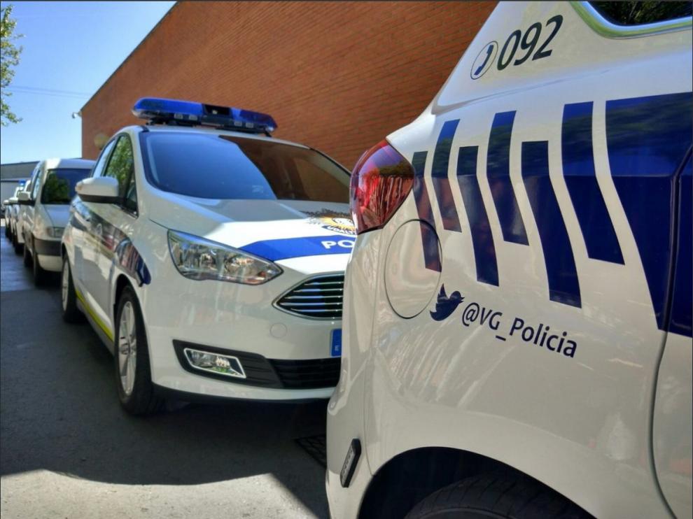 Coches de la policía local vasca.