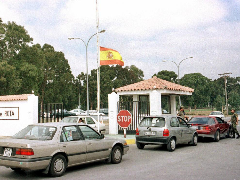 Entrada a la base naval de Rota (Cádiz).