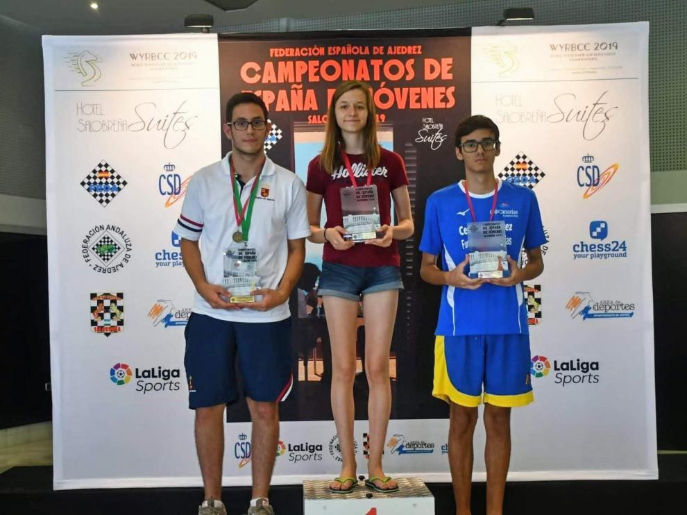 María Eizaguerri, campeona de España sub 16 en categoría absoluta (mixta), el pasado fin de semana en Granada.