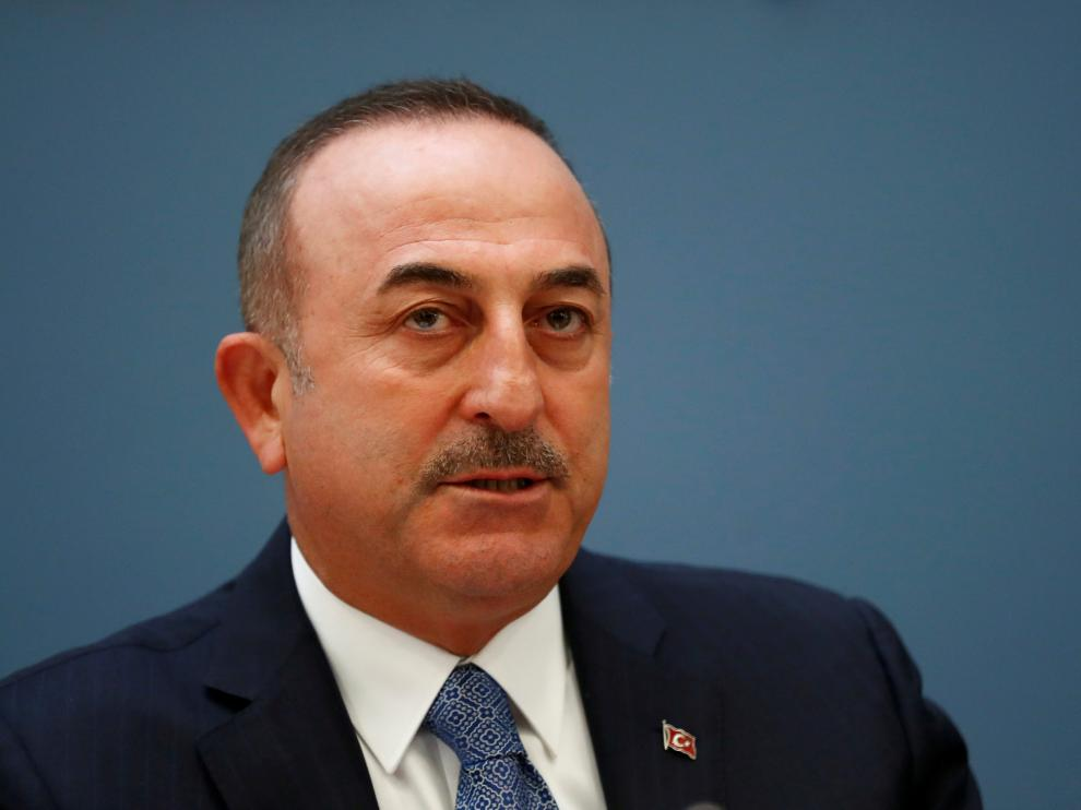 FILE PHOTO: Turkish Foreign Minister Mevlut Cavusoglu attends a news conference in Riga, Latvia May 16, 2019. REUTERS/Ints Kalnins/File Photo [[[REUTERS VOCENTO]]] TURKEY-SECURITY/USA