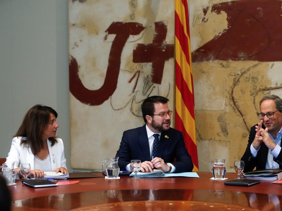 Reunión semanal del Gobierno catalán.