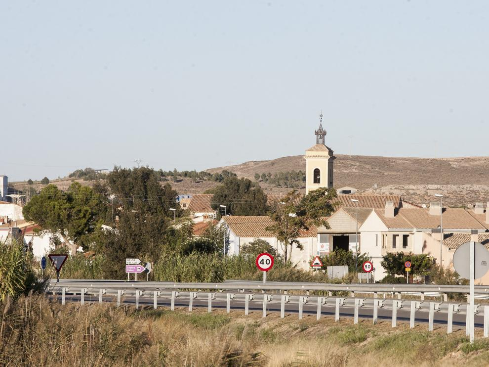 Vista general del municipio de Gelsa, en la Ribera Baja del Ebro.