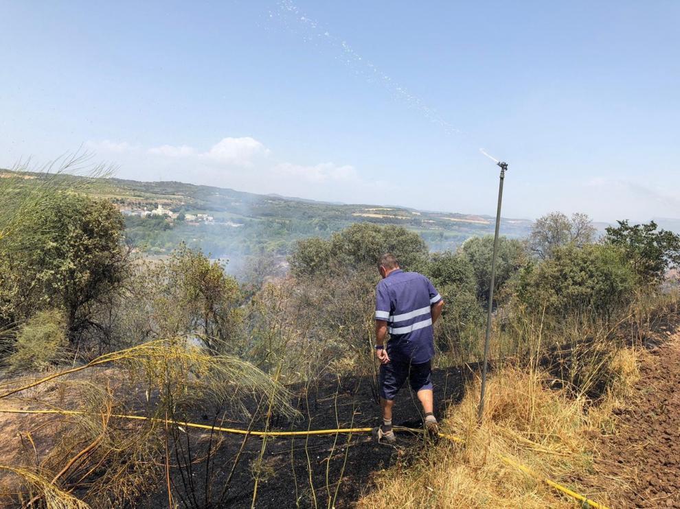 Incendio en la comarca del Somontano