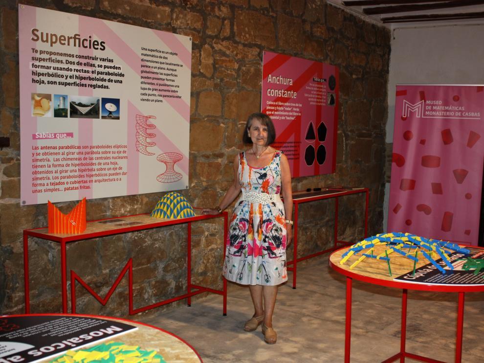 María Teresa Lozano Imízcoz en la sala del museo que lleva su nombre.