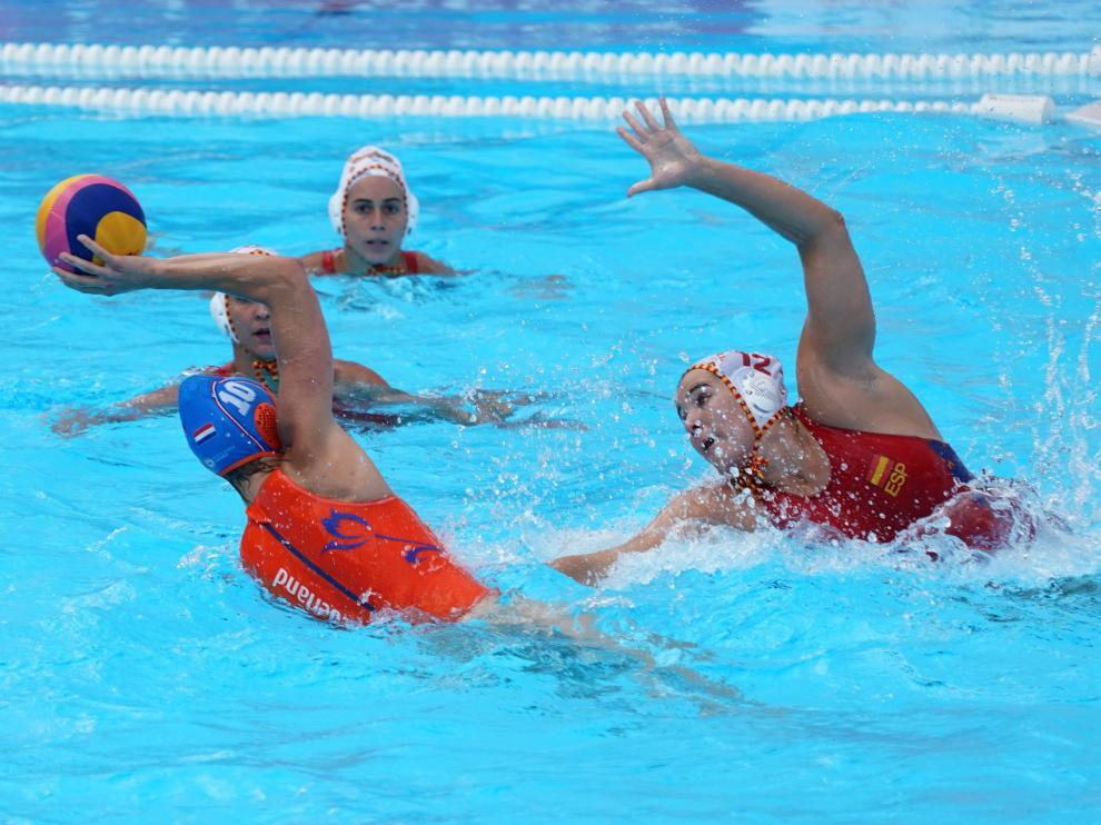 Encuentro de semifinales entre España y Hungría.