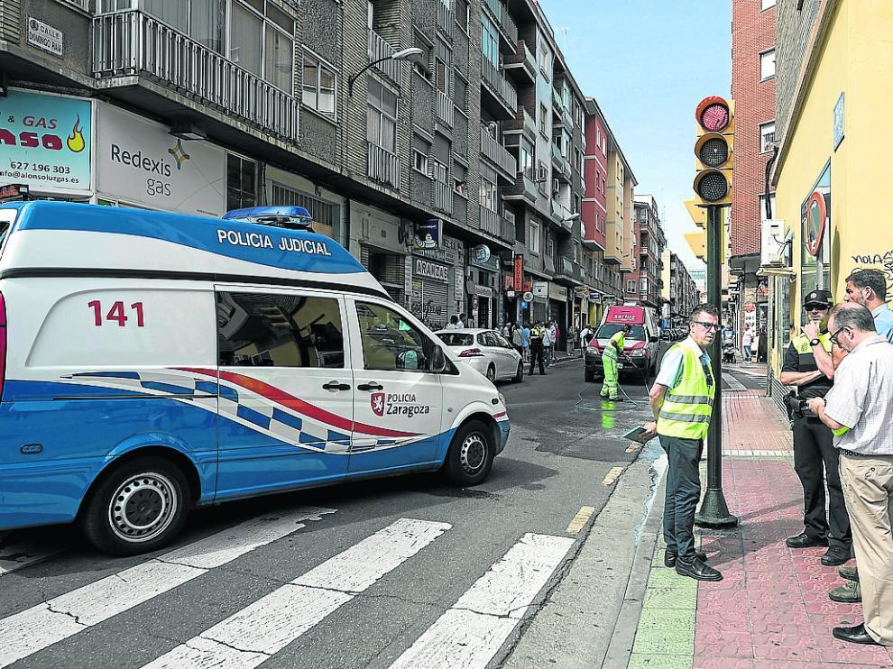 El accidente se produjo en la esquina del paseo de Calanda con Domingo Ram.