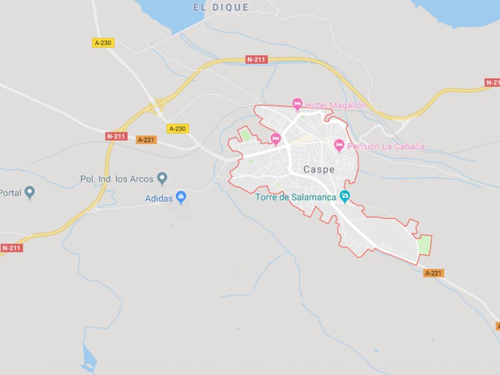 El accidente tuvo lugar a unos 5 kilómetros del casco urbano de Caspe.
