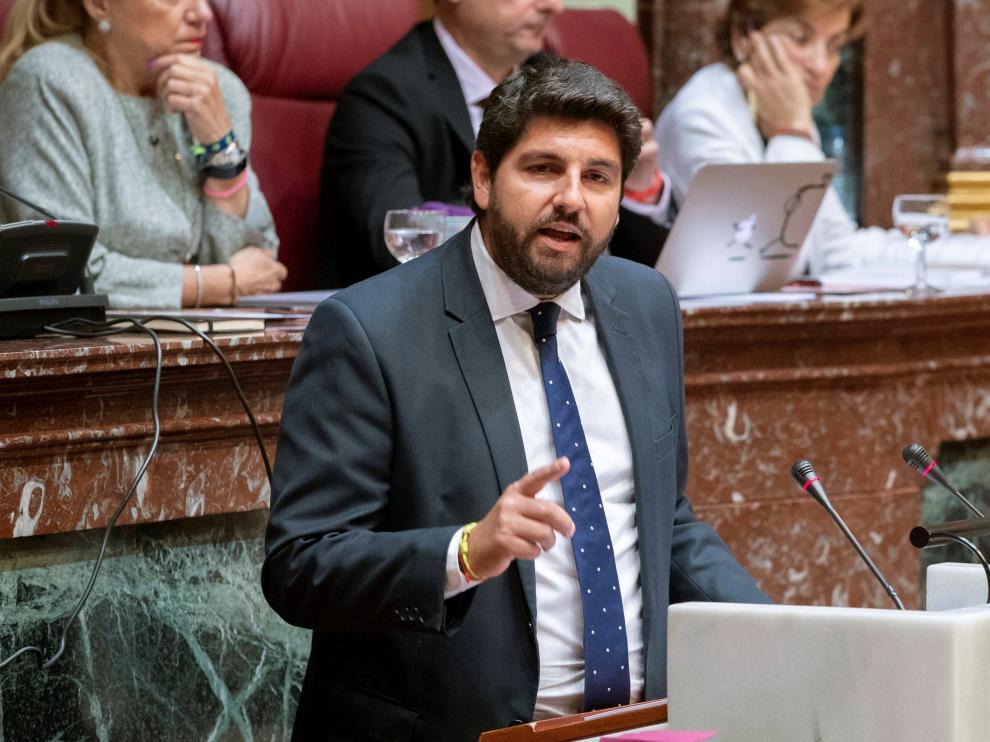 El candidato a la Presidencia de la Comunidad de Murcia, Fernando López Miras.