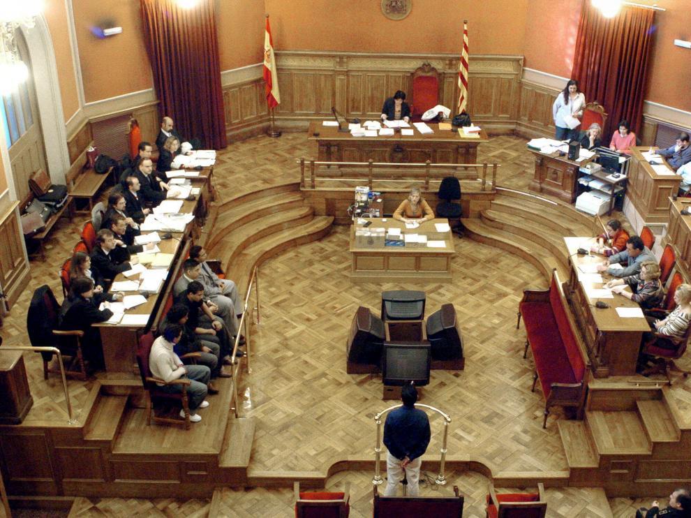 Vista general de una de las salas de la Audiencia de Barcelona.