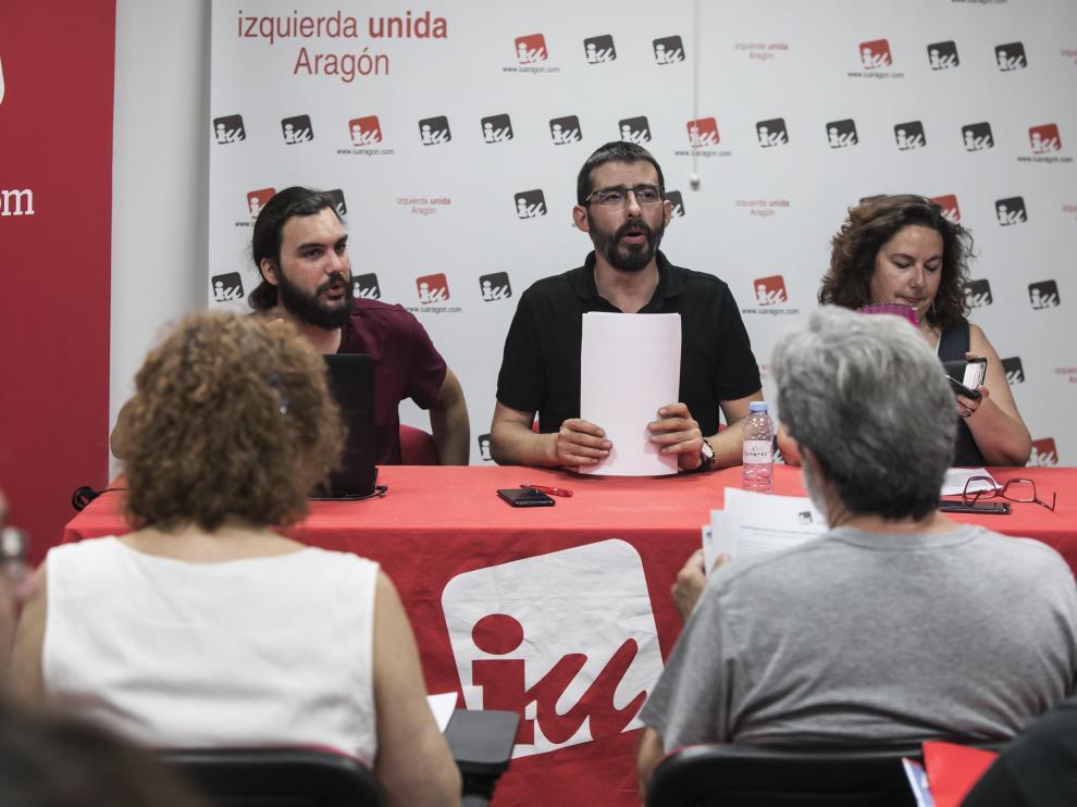 Reunión de la Coordinadora de IU Aragón