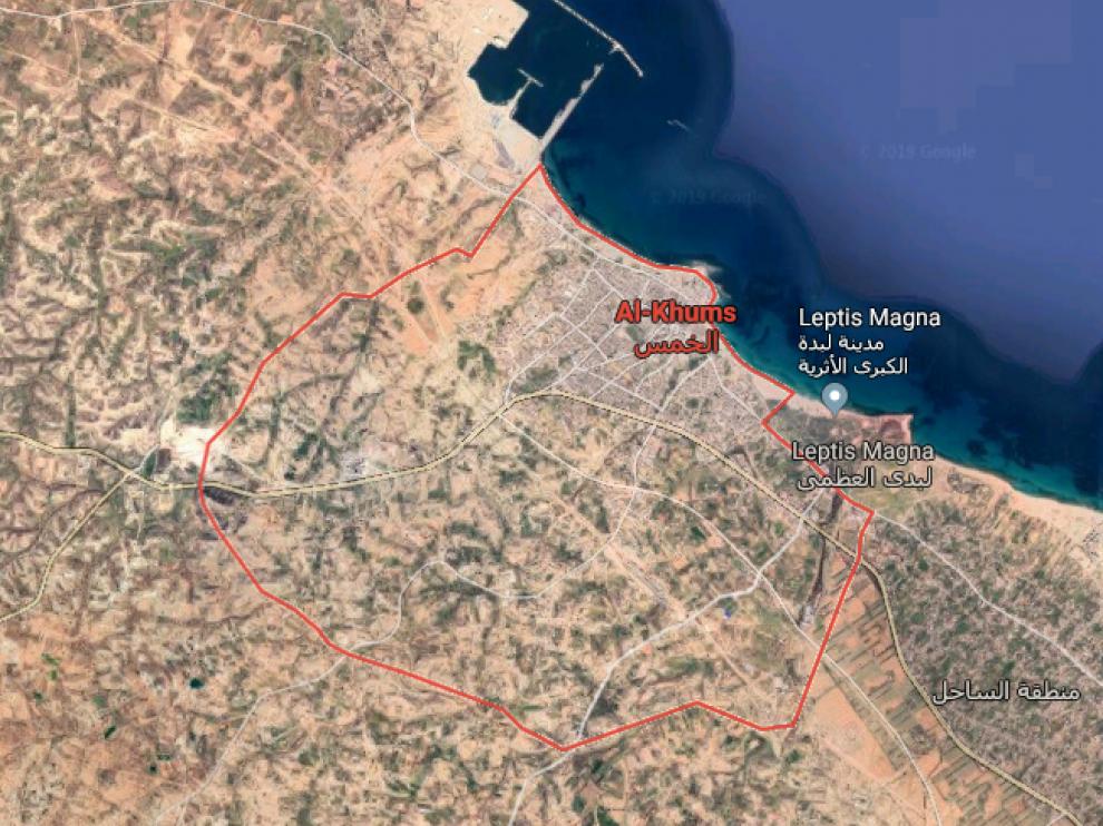 La embarcación había salido de una playa próxima a la ciudad de Khoms, uno de los principales trampolines de la migración irregular el Mediterráneo.
