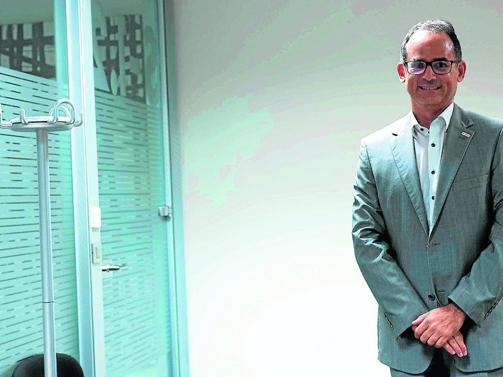 El presidente del Grupo Bosch para España y Portugal, Javier González Pareja, en Ibercaja.