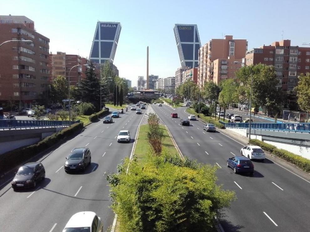 Paseo de la Castellana de Madrid.
