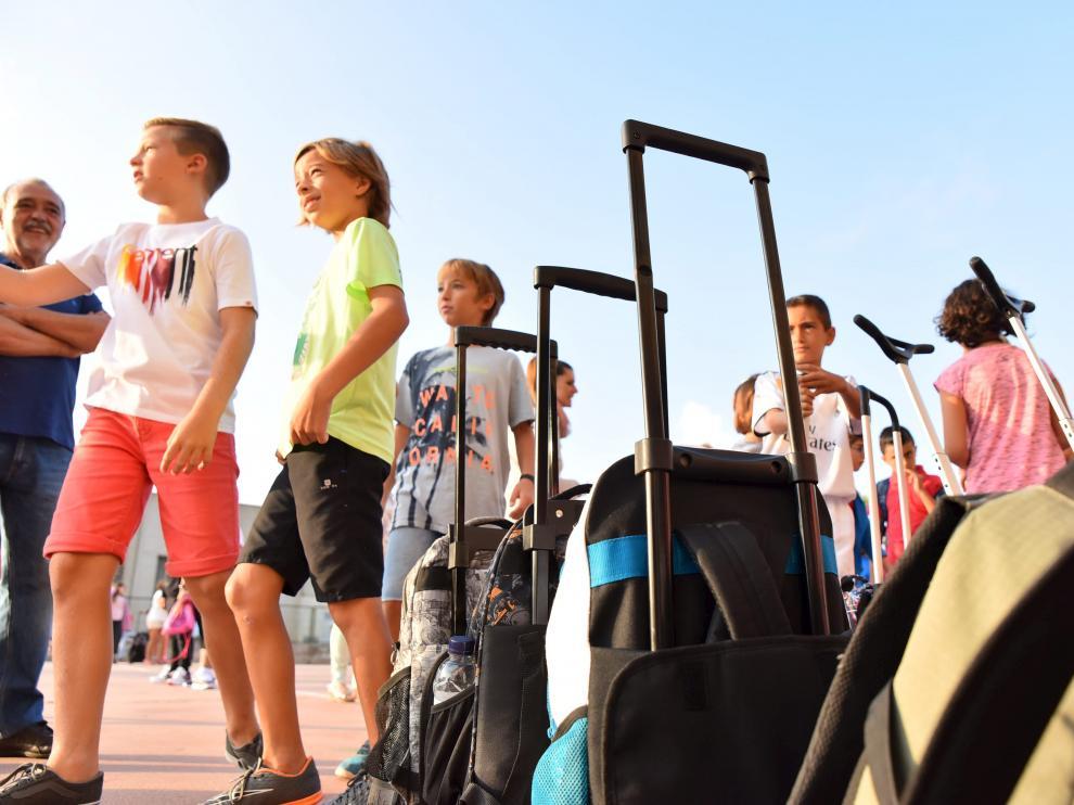 Colegios en Huesca. Inicio de curso / 10-09-18 / Foto Roger Navarro [[[FOTOGRAFOS]]]