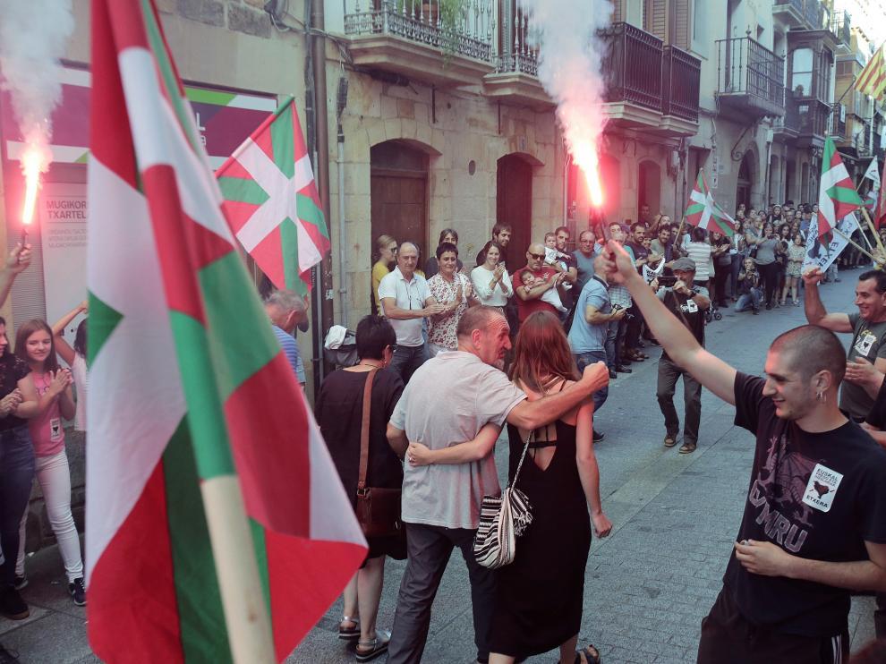 Acto de homenaje al etarra Xabier Ugarte en Oñati.
