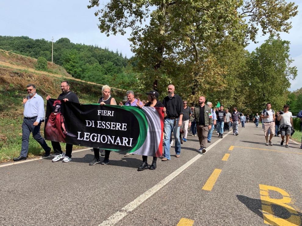 Hoy domingo los seguidores de Mussolini han celebrado el aniversario de su nacimiento.