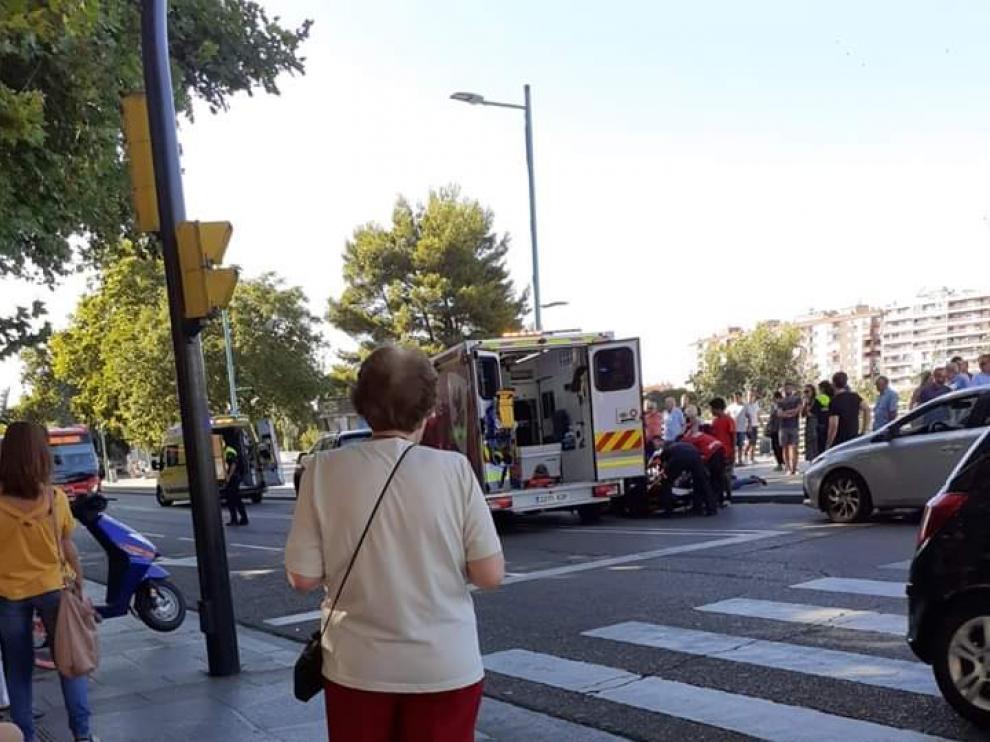 Atropellados dos menores en el peligroso paso de cebra de Echegaray Caballero