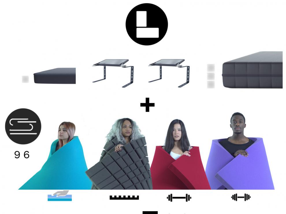 Este es el colchón extensible patentado por el zaragozano Alberto Sánchez