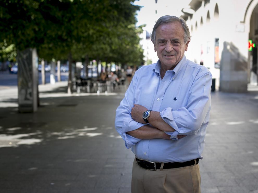 Luis Blasco Bosqued, este lunes en el paseo de la Independencia.