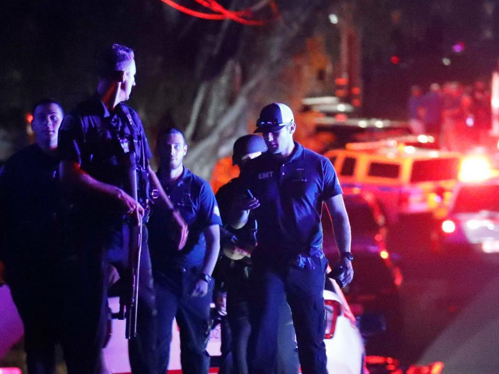 La policía de Estados Unidos en la intervención de la operación de California.