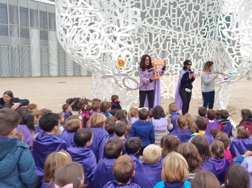Una de las actividades realizadas en el marco del proyecto 'Rosaleros Got Talent', finalista al premio nacional 'Acción Social', de BBVA.