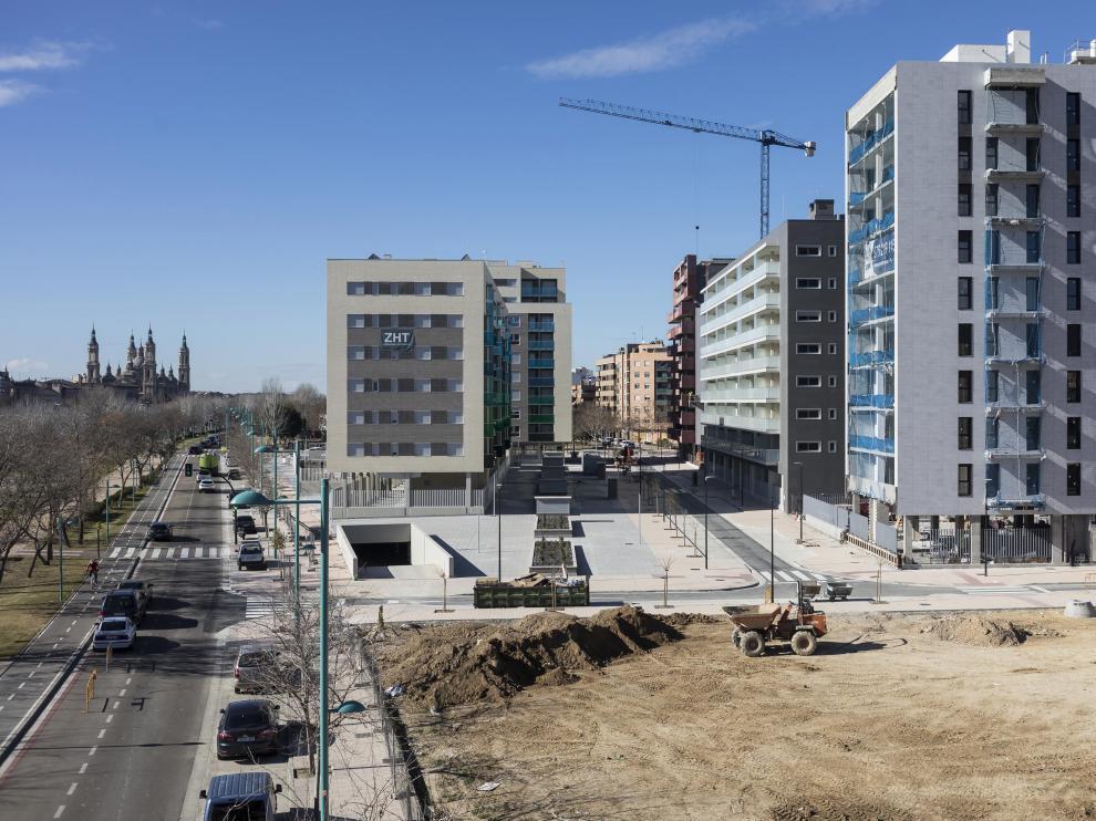 Viviendas en construcción en Zaragoza