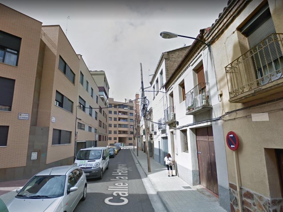 Una imagen de la calle de La Habana, en el barrio Jesús de Zaragoza.