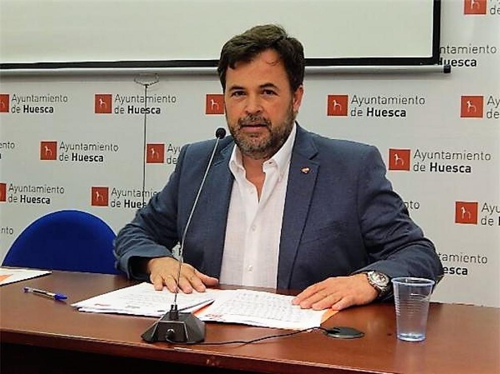 Jose Luis Cadena, portavoz de Cs en el Ayuntamiento de Huesca.