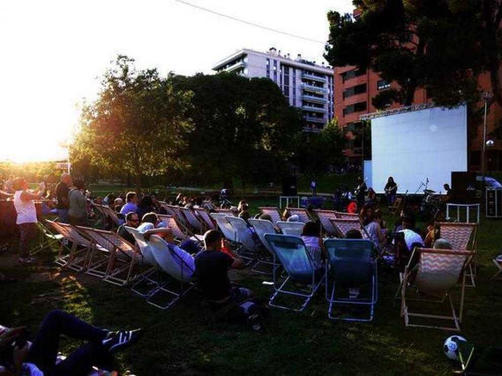 Programa de cine al aire libre de Alcañiz.