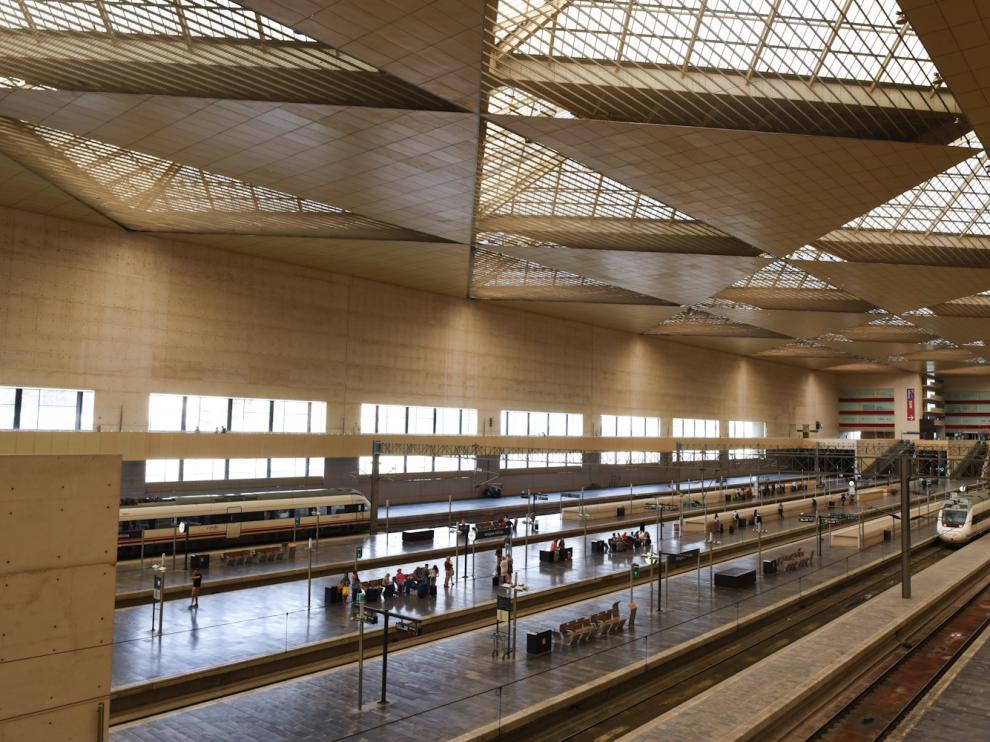Afecciones de la huelga de Renfe en la estación de Delicias de Zaragoza
