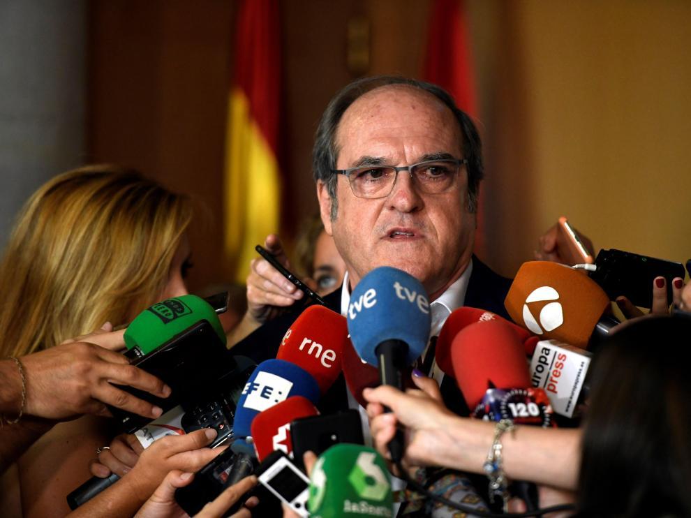 El candidato del PSOE en la Comunidad de Madrid, Ángel Gabilondo.