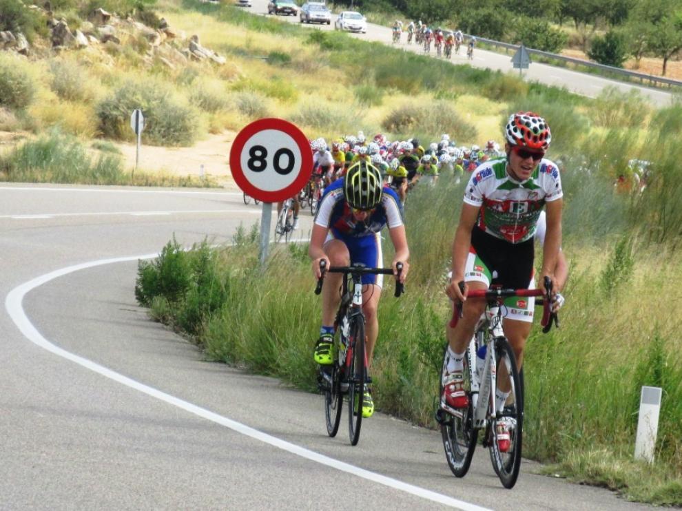 Imagen de la Vuelta al Bajo Aragón de la pasada edición