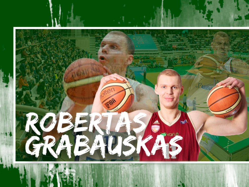 Robertas Grabauskas, nuevo pívot del Levitec Huesca.