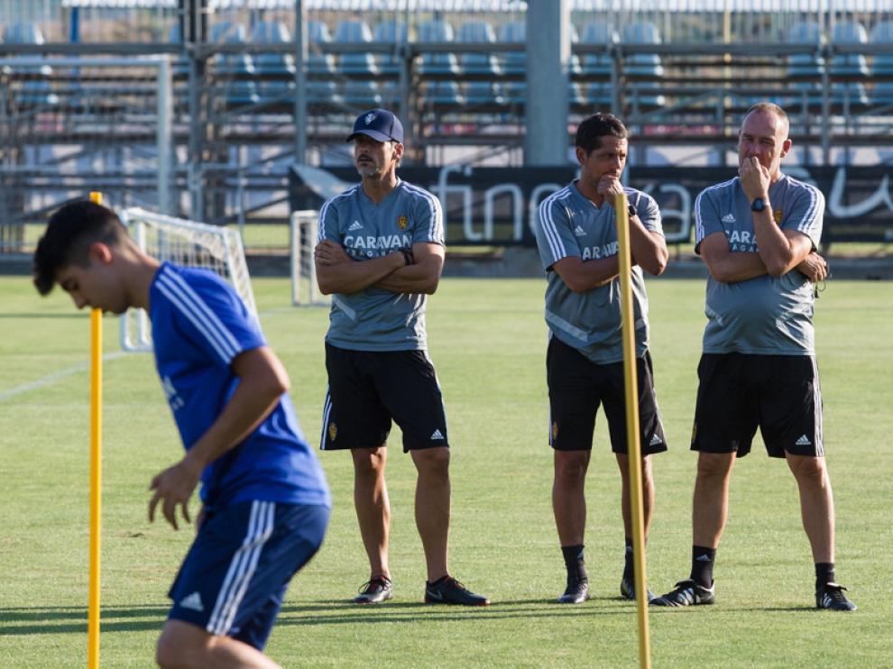El equipo en la sesión de ayer en la Ciudad Deportiva.
