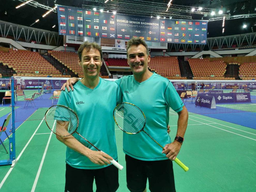 Luis Alberto Morcillo y Álvaro Rangil, en el Spodek Arena de Katowice