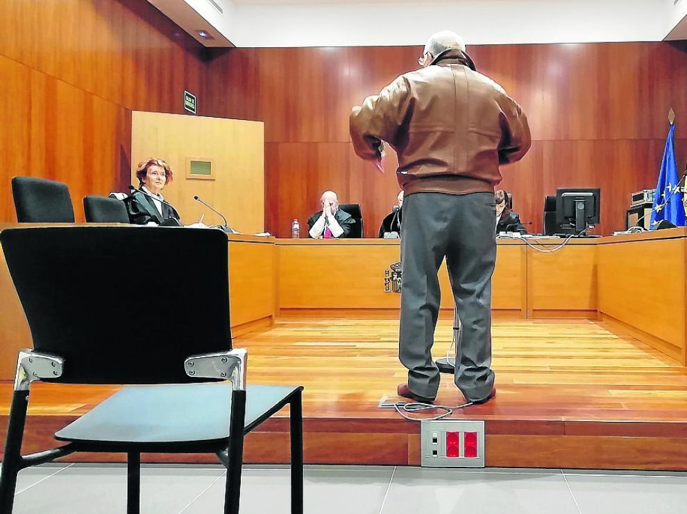 El acusado, durante el juicio celebrado a finales de abril en la Audiencia de Zaragoza.